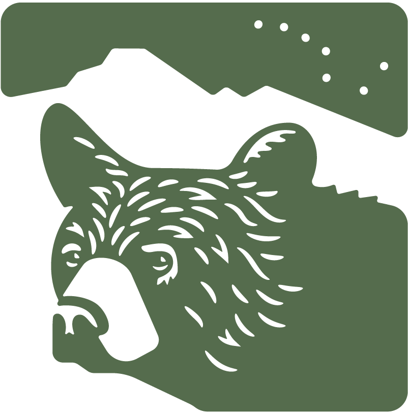 The Alongside Wildlife Foundation logo, featuring a black bear in profile. Green artwork.